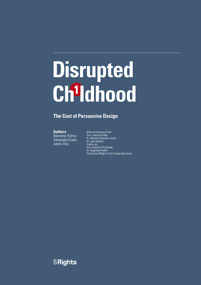 Disrupted Childhood: The Cost of Persuasive Design